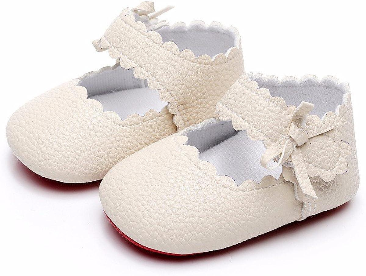 B/éb/é Fille Chaussures B/éb/é Gar/çon IMJONO Chaussures de Princesse 0-18 Mois Nouveau-n/é b/éb/é Chaussures Bowknot ,Chaussons B/éb/é Cuir Semelle Souple Premiers Pas