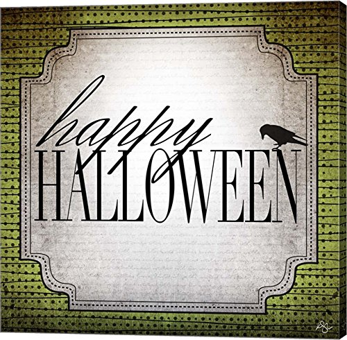 Happy Halloween by Kimberly Glover Canvas Art Wall Picture, Gallery Wrap