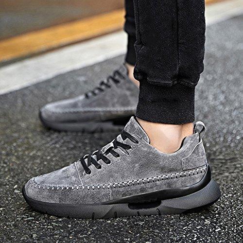 Men's Shoes Feifei Spring and Autumn Movement Leisure Wear-Resistant Tide Shoes 3 Colors (Color : Gray, Size : EU43/UK9/CN44)