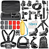 Neewer 30-in-1 Sport Accessory Kit for GoPro Hero4 Session Hero1 2 3 3+ 4 SJ4000 5000 6000 7000 Xiaomi Yi in Swimming Rowing Skiing Climbing Bike Riding Camping Diving and Other Outdoor Sports