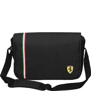 aa3576edb4f Amazon.com   Ferrari Active Messenger Bag - Black   Travel Totes