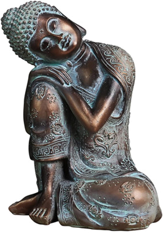 jieyun Buddha Statue Ornament Resin Zen Southeast Asian Style Buddha Decor Sitting Fengshui Sleeping Figurine Decoration