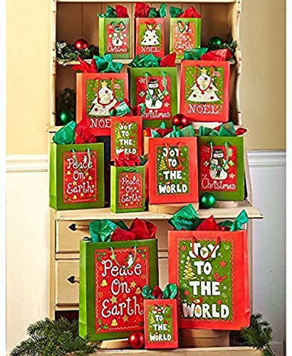 42-Pc. Holiday Cheer Gift Bag Sets by GetSet2Save