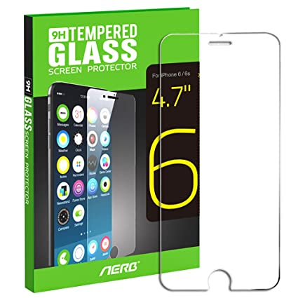 aerb tempered glass screen protector for apple iphone 6 6s 47 inch pack amazoncom tempered glass