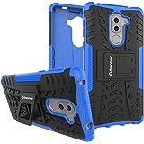 Bracevor Shockproof Huawei Honor 6X Hybrid Kickstand Back Case Defender Cover - Blue