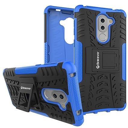 Bracevor Hybrid Back Cover Kickstand Case for Huawei Honor 6X   Blue | Rugged Defender