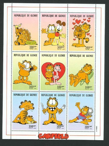 Garfield and Friends Collectible Postage Stamps Guinea GUI0015SH