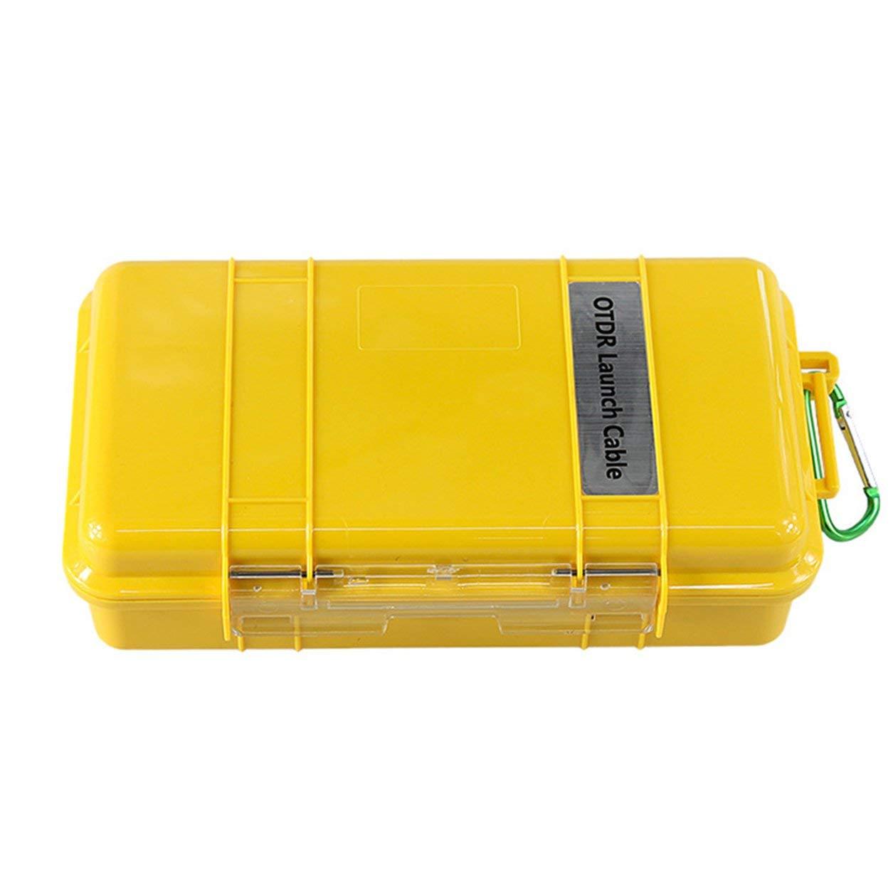 Dailyinshop SC-UPC / SC-APC Anillo de Fibra de Caja de Cable de Lanzamiento OTDR de Modo único 1KM Profesional (Color: Amarillo y Dorso)