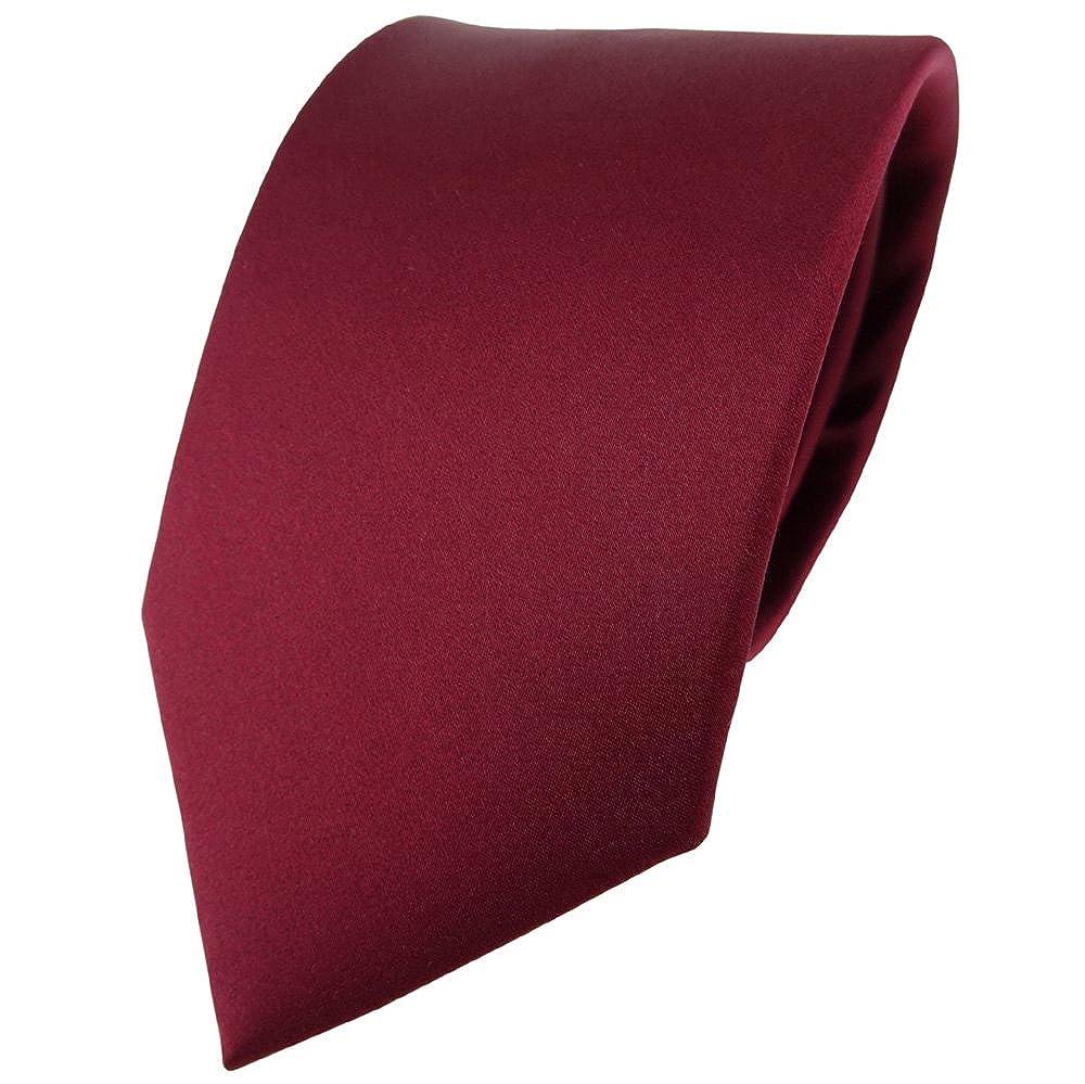 TigerTie Satin Seidenkrawatte in verschiedenen Farben einfarbig Uni Breite 8 cm Krawatte 100/% Seide