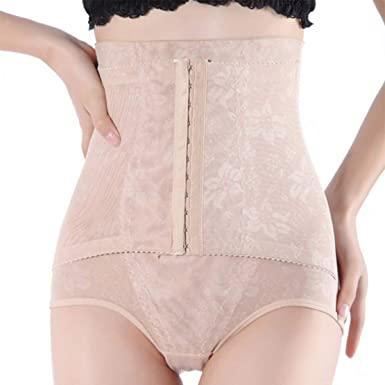 8386faf387450 ASO-SLING High Waist Trainer Tummy Control Panties Hooks Butt Lifter at Amazon  Women s Clothing store