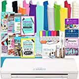 Silhouette Cameo 3 Bluetooth Bundle with 12x12 Inch Sheets of Oracal 651 Vinyl, Sketch Pens, Sticker Paper, Guide Books, and More