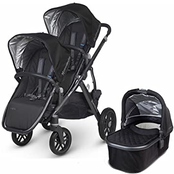 Uppababy 2017 Vista Double Stroller Kit With Bassinet Jake