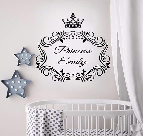 Geiqianjiumai Princess Crown Personality Wall Sticker Baby Name ...