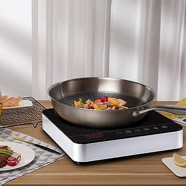 Aobosi Placa de inducción,placa de inducción, vidrio cerámico de 2000 vatios con pantalla digital LED placa de inducción de placa caliente, control de ...