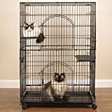 ProSelect Customizable Cat Cage - Safe and Durable Wire and Plastic Cage Measuring 35.5