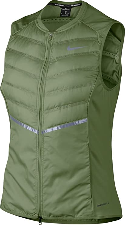 heno télex Árbol  Amazon.com : Nike Women's Dri-Fit Aeroloft Running Vest Palm Green (XS) :  Clothing