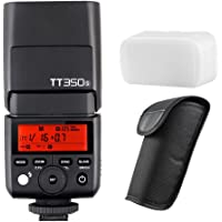 Godox TT350S 2.4G TTL Speedlite GN36 1/8000s HSS 0.1-2.2s Fast Recycle Time Camera Flash for Sony Mirrorless Cameras A7R II A7R A58 A77 II A99 RX10 ILCE600L DSLR Camera with MicroFiber Cloth