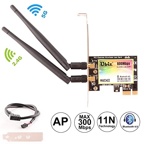 WiFi Card AP 600Mbps,Wireless Network Card,WLAN WiFi Adapter with Bluetooth 4.0,