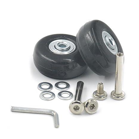 fujiyuan 1 par 49 mmx18 mm viaje equipaje maleta trolley rueda piezas resistente llave de repuesto
