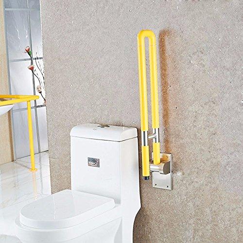 MDRW-Safety Handrail Anti Slip Barrier Folding Armrest Bathroom Handle Bathroom Bathroom Stainless Steel Handrail by Olici