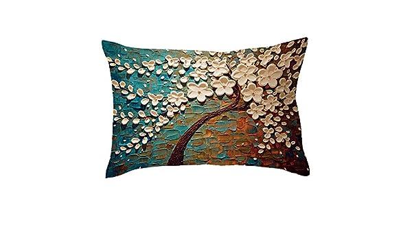 Deelin - Funda de cojín Rectangular para sofá, diseño de ...