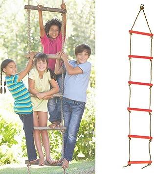 6 Peldaños para Niños Escalera de Escalada Niños Al Aire ...