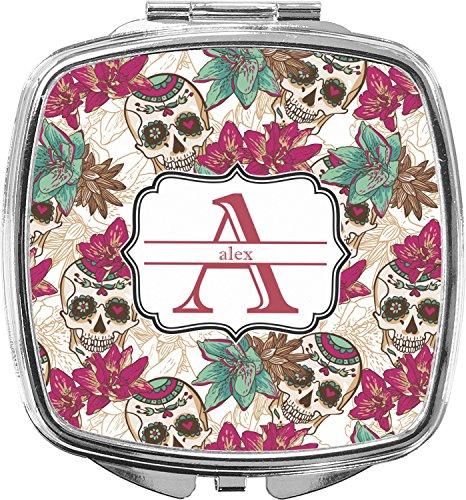- Sugar Skulls & Flowers Compact Makeup Mirror (Personalized)