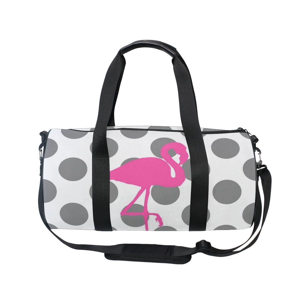 jstel Flamingo lunares bolsa de deporte gimnasio para hombres y mujeres bolsa de viaje de viaje: Amazon.es: Deportes y aire libre