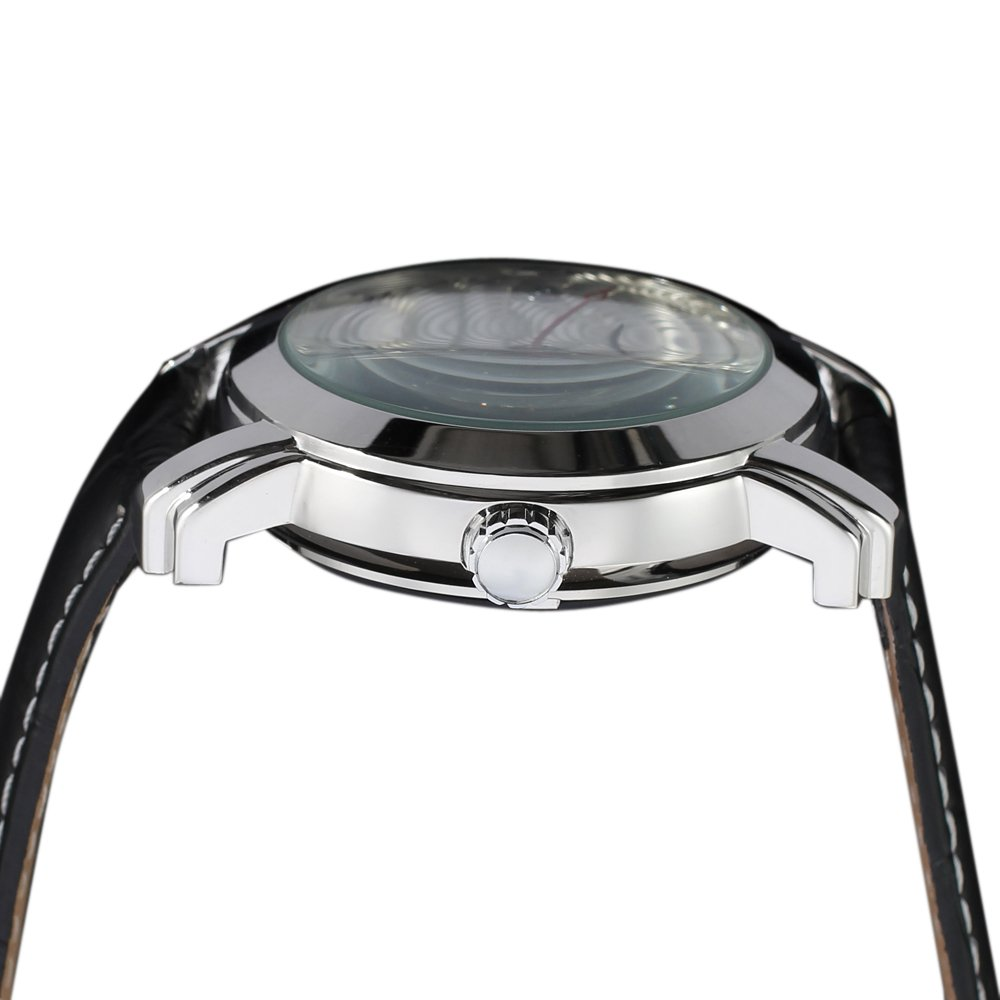 Amazon.com: Forsining Mens Skeleton Automatic Mechanical Wrist Watch FSG009M3S1: Watches