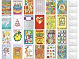 25 Greeting Cards Box Set - Royal Needham USA - All Occasion Assortment Variety Pack - Birthday Anniversary Wedding Baby Get Well Sympathy Thank You Blank Note Envelopes 5 x 7.75 (25 Card)