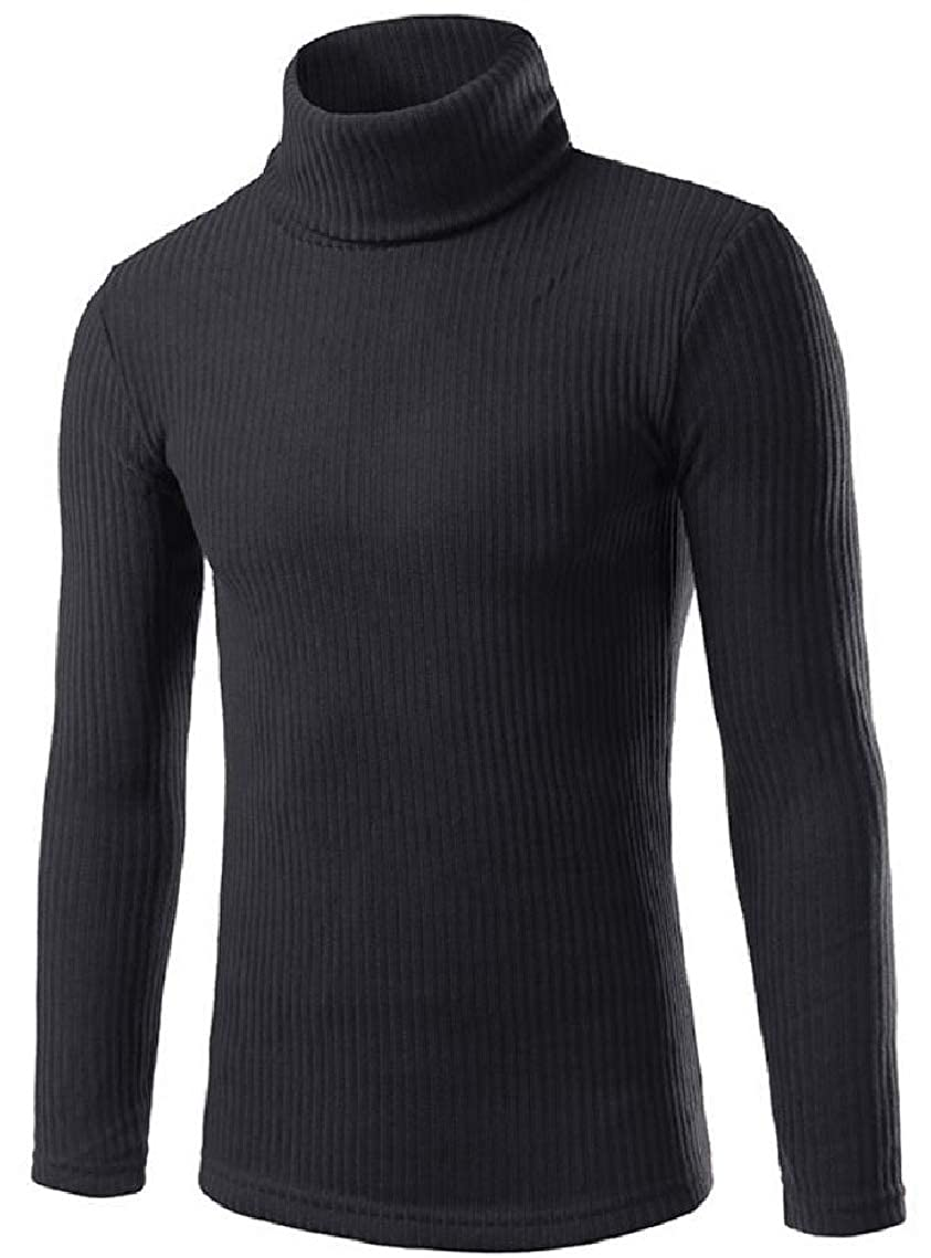 Yayu Mens Casual Knitted Turtleneck Thermal Sweaters