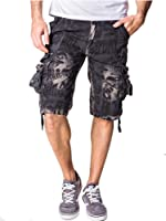 Tonwhar Men's Fashion Camouflage Vintage Cargo Shorts