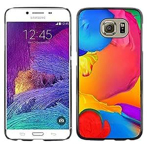 TopCaseStore / la caja del caucho duro de la cubierta de protección de la piel - Paint Colorful Blue Liquid Yellow Purple - Samsung Galaxy S6 SM-G920