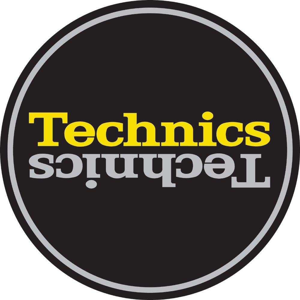 Technics Slipmat 60659 Duplex 4:Slvr/Y Mirror on Black