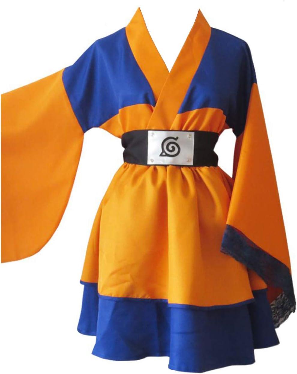 RedJade Naruto Shippuden Naruto Uzumaki Robe Genderbend Traje de ...