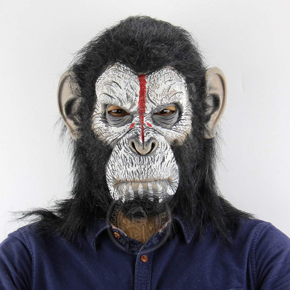 Scary Animal Halloween Masks.Xxf Human Gorilla Headgear Halloween Horror Scary Animal Monkey Mask As Shown One Size Buy Online In India At Desertcart In Productid 86966120