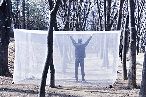 SSoonyi Double KING 7-8 Person Large Mosquito net Bedroom Insect Canopy Camping Netting Not bleach-treated For Sale