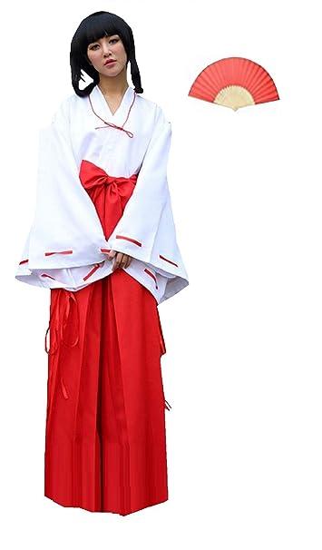 Amazon.com: Fuji de la mujer Inuyasha Kikyo estilo Cosplay ...