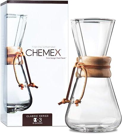 Chemex CM-1C cafetera - cafeteras (Transparente, Vidrio)