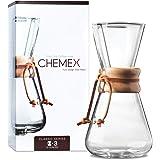 Chemex Cafetera de vidrio, Classic, Transparente, 3 Tazas, 1
