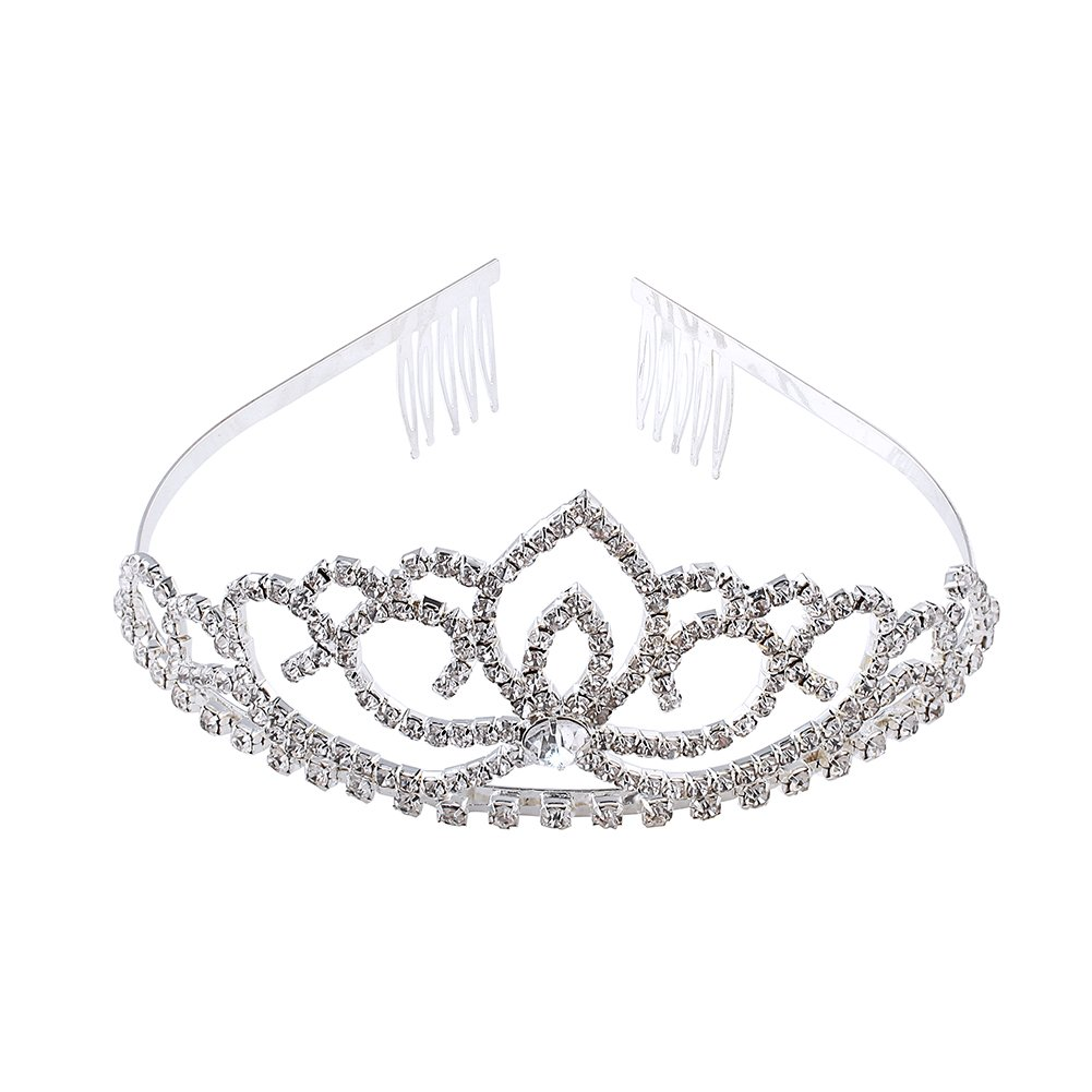 Elegant Wedding Pageant Bridal Crown Headband Tiara Charming Rhinestone Headpiece AB-011