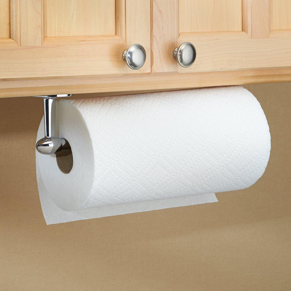 paper towel holder bar stainless steel kitchen wall mount under cabinet chrome 689744944506 ebay. Black Bedroom Furniture Sets. Home Design Ideas