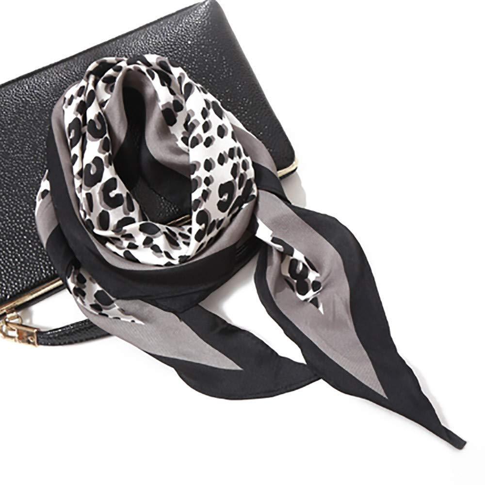 SO-buts Frauen weicher Leopard Schal Diamant Handgelenk Twill Weichen Schal 115x35cm Mode Frauen Herbst Schal Satin Diamant Kleinen Schal