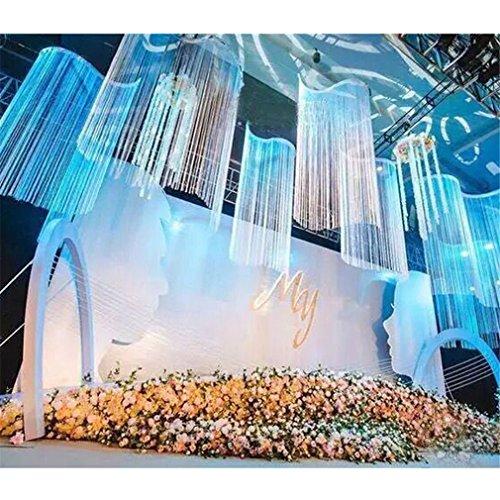Yesido. Decorative Door String Curtain Wall Panel Fringe Window Room Divider Blind Divider Crystal Tassel Screen Home - Panel Window Box