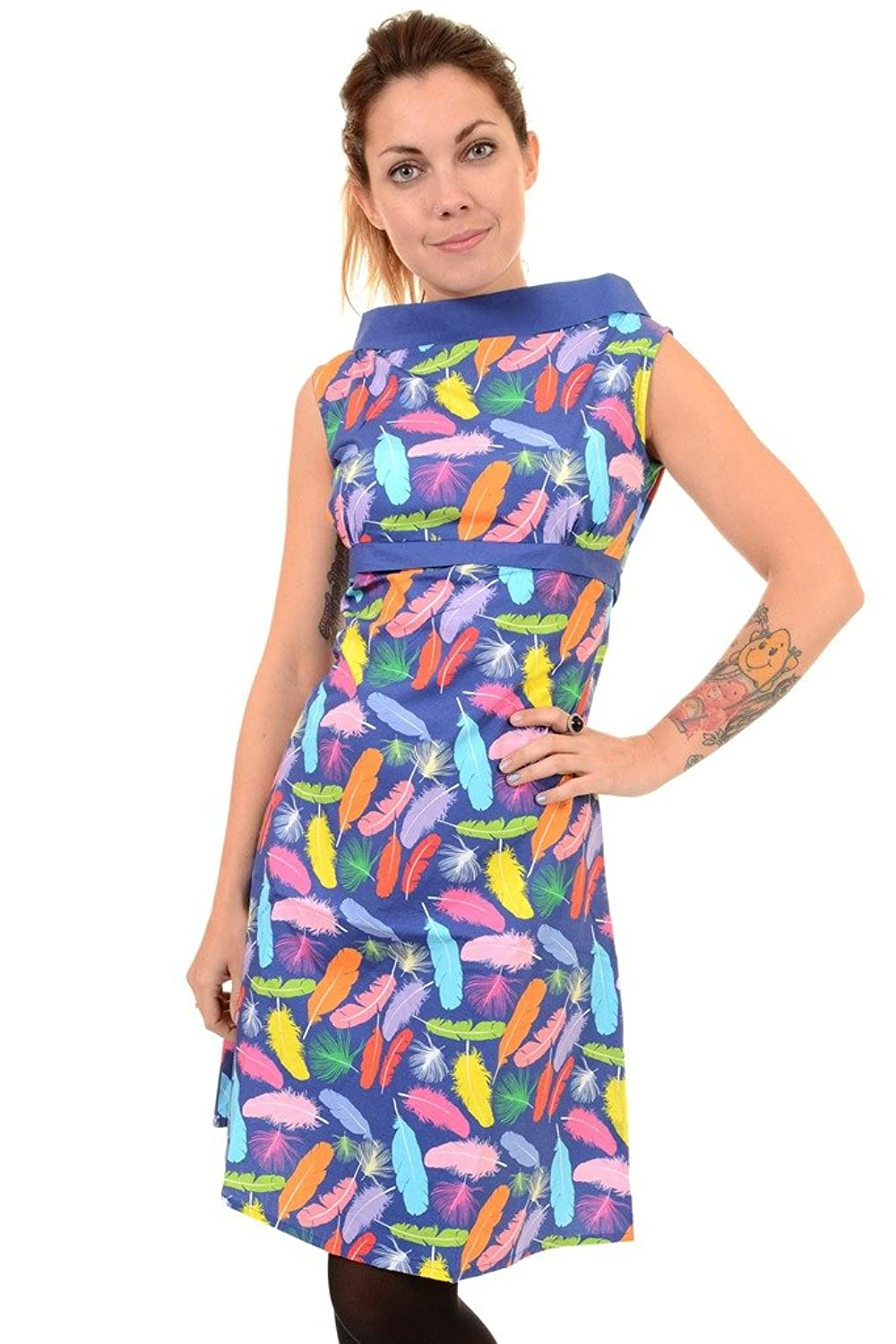 500 Vintage Style Dresses for Sale Ladies Run & Fly 60s Retro Feather Me Up A-Line Dress $16.95 AT vintagedancer.com