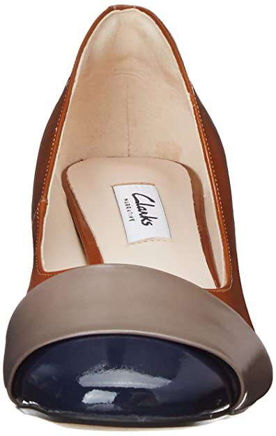 Clarks Chinaberry Sky, Chaussures de Ville Femme - Marron (Cognac), 37 EU (4 UK)