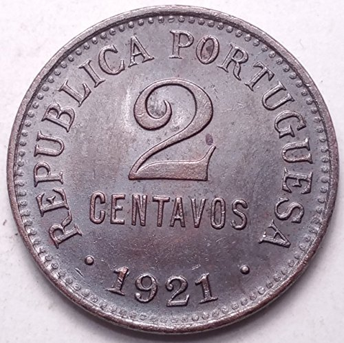 PORTUGAL 1921 2 CENTAVOS RARE DATE...FOREIGN COIN