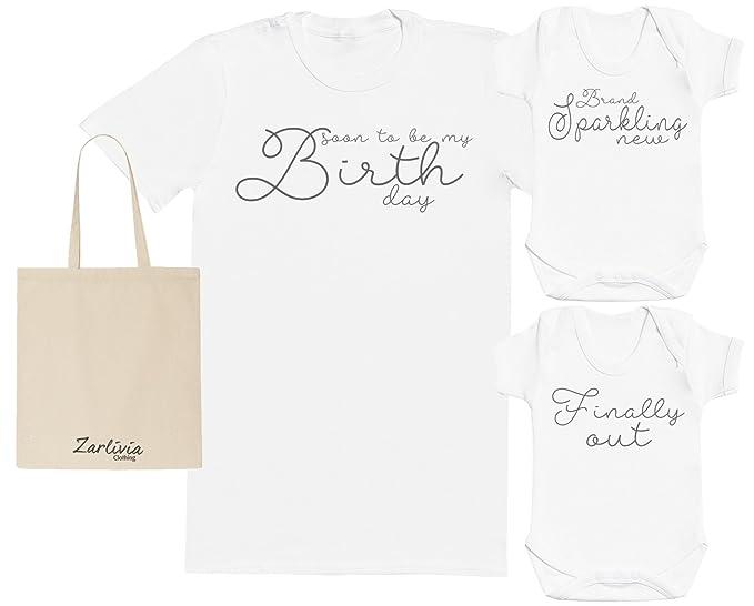Sparkling New - Maternity Hospital Gift Set Bag with Hospital T-Shirt   2X  New f0f3ed3c1