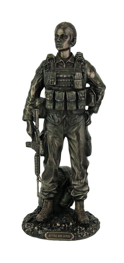 Veronese Design U.S. Female Soldier – Defend Serve Statue Sculpture Figurine
