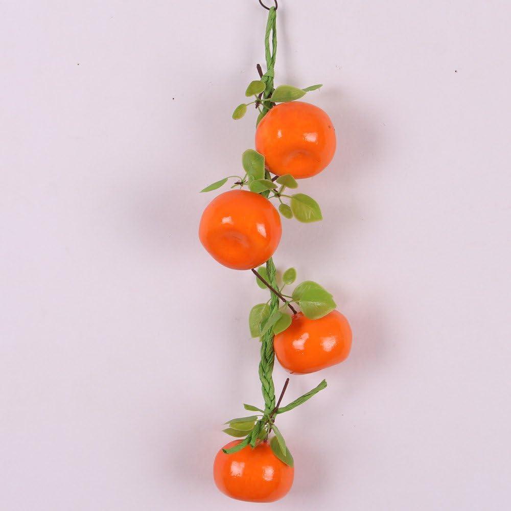 Fraise rouge L/égumes Artificiels D/écoration Suspendu pour Cuisine Jardin Lot de 5 Cha/îne de Fruits
